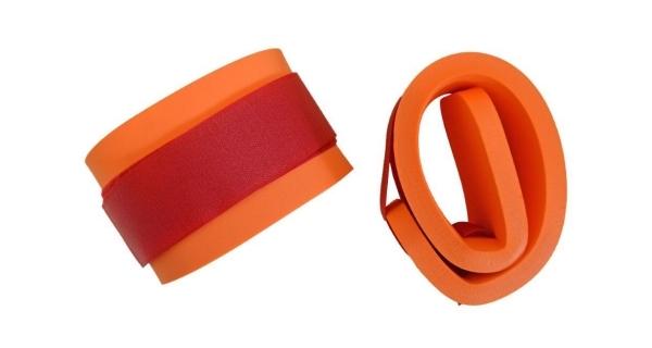 Rukávky nadlehčovací na suchý zip - pár - oranžová