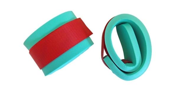 Rukávky nadlehčovací na suchý zip - pár - zelená
