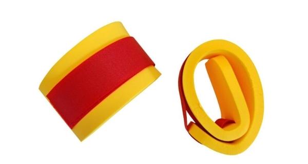 Rukávky nadlehčovací na suchý zip - pár - žlutá