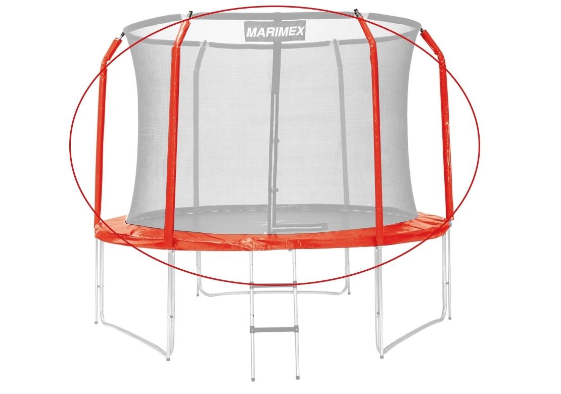 Marimex Sada krytu pružin a rukávů pro trampolínu 305 cm - červená - 19000774