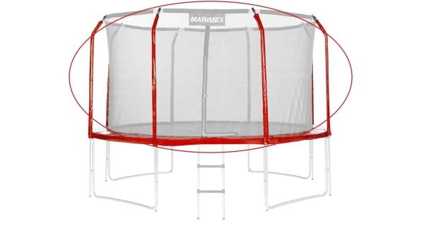 Sada krytu pružin a rukávů pro trampolínu 366 cm - červená