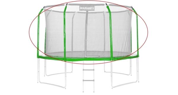 Sada krytu pružin a rukávů pro trampolínu 366 cm - zelená