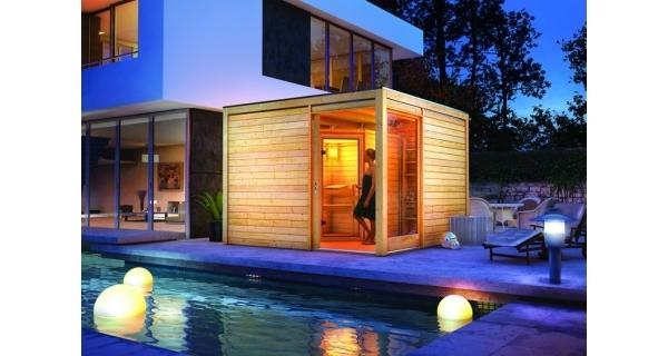 Saunový domek Cubus Premium + sauna Emilia Karibu