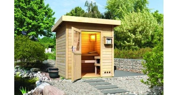 Saunový domek s rovnou střechou Karibu