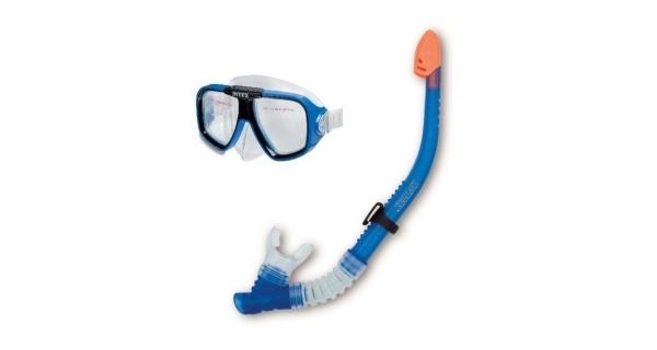 Set brýle a šnorchl modrý