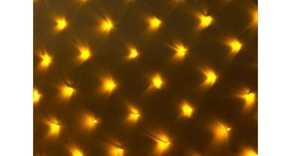 Síť 1,5 x 1,5 m - 100 LED - teplá bílá