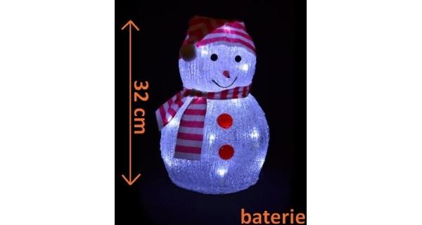 Sněhulák 20 LED - studená bílá