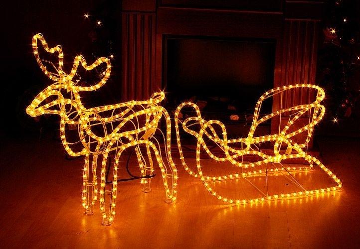 Marimex Sob LED se saněmi - teplá bílá - 18000138