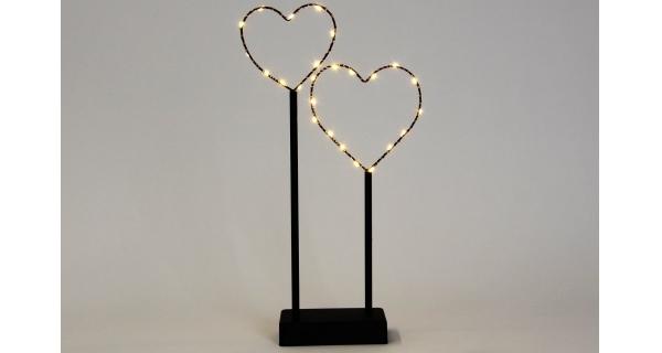 Srdce 25 LED - černá