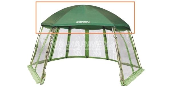 Střecha ze zelené tkaniny pro Pool House