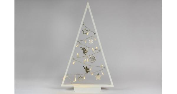 Stromeček 15 LED - bílá