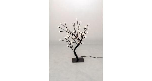 Stromek s květy 48 LED - teplá bílá
