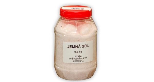Sůl mletá v dóze 0,5 kg - natural