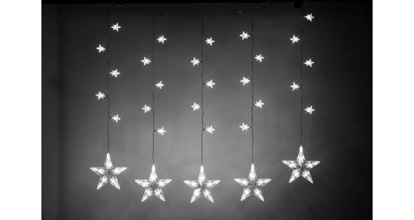 Světelné hvězdy 100 LED - studená bílá