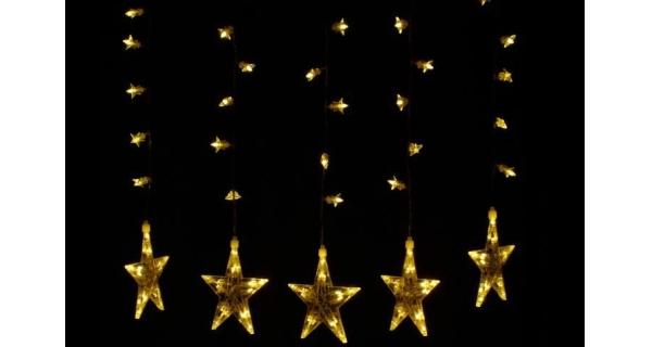 Světelné hvězdy 100 LED - teplá bílá
