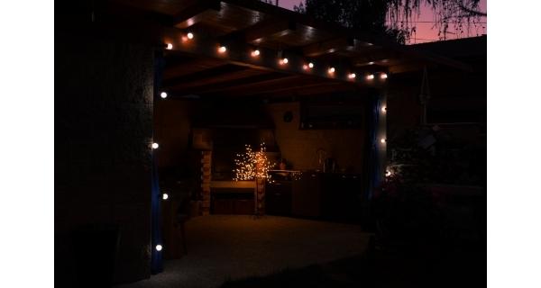 Světelný párty řetěz 100 LED - studená bílá