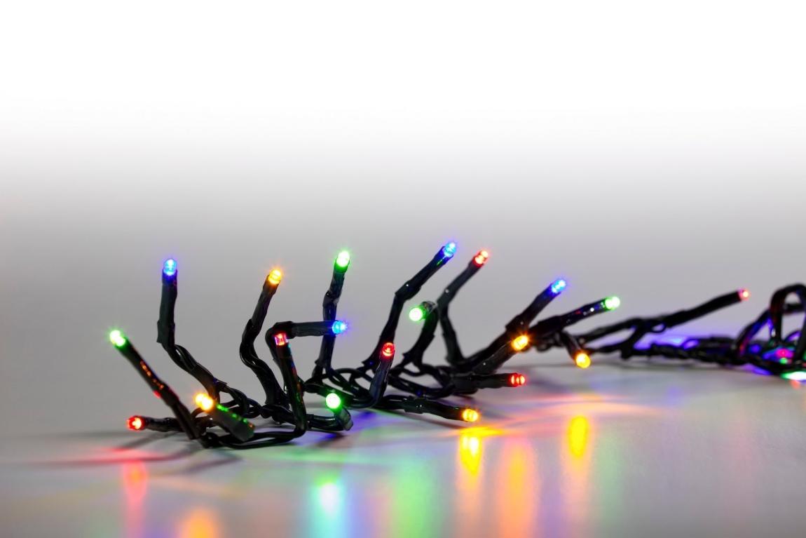 MARIMEX Řetěz světelný 100 LED 5 m - barevný - zelený kabel - 8 funkcí