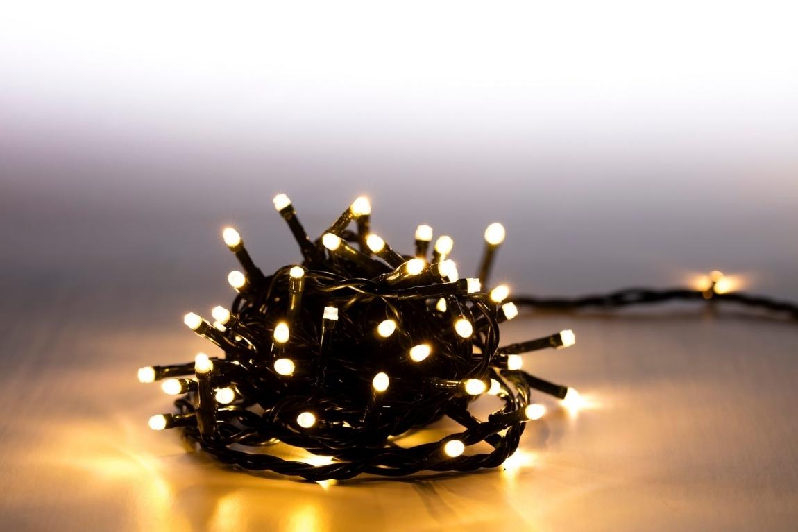 Marimex Světelný řetěz 100 LED - teplá bílá - zelená - mód - 18000061