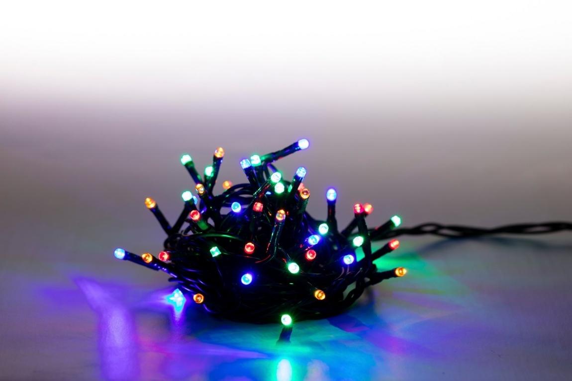MARIMEX 18000073 Řetěz světelný 10m 200 LED barevný 8 funkcí