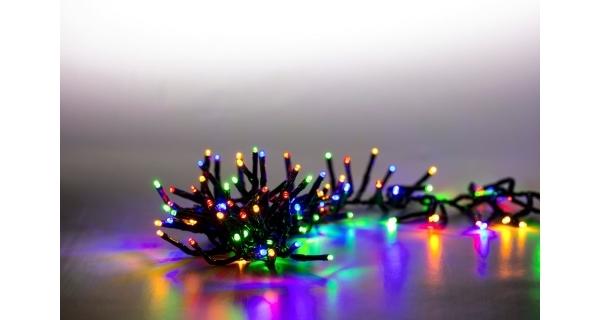 Světelný řetěz 200 LED dvojitý - barevná - sada 2 ks