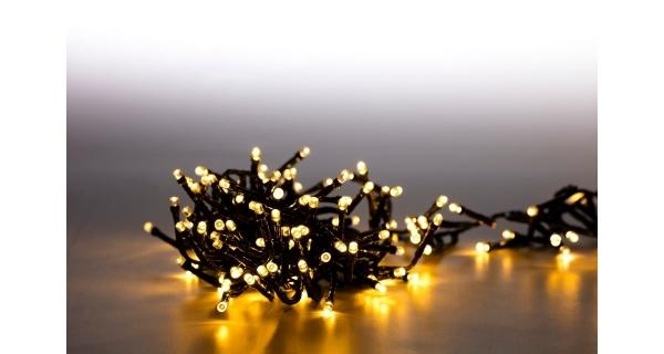 Světelný řetěz 200 LED dvojitý - teplá bílá - sada 2 ks