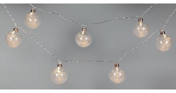 Světelný řetěz 8 LED - teplá bílá