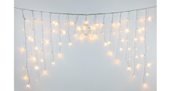 Světelný závěs s hvězdou 80 LED
