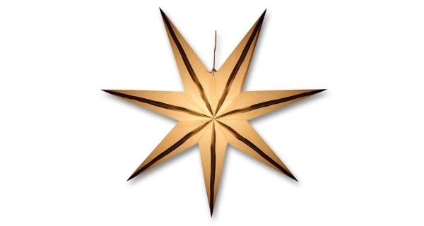Svítící hvězda - zlaté proužky