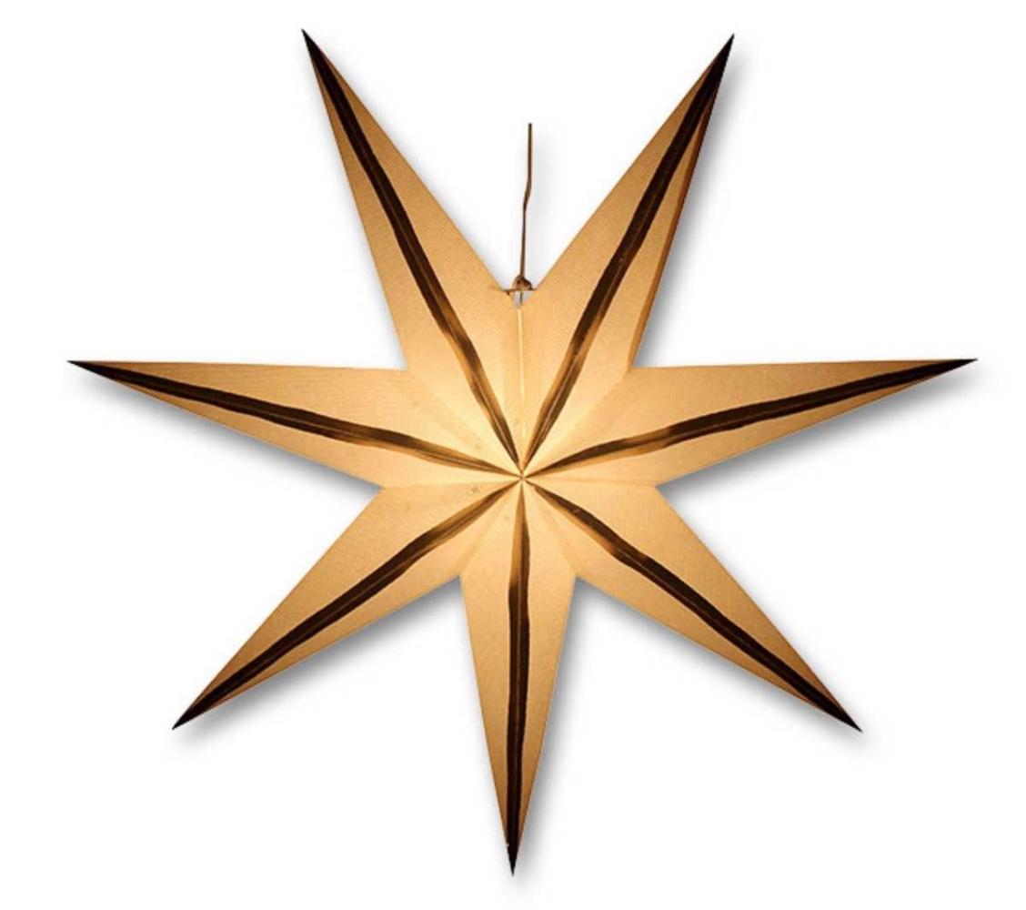 Svítící hvězda - zlaté proužky - 18000329