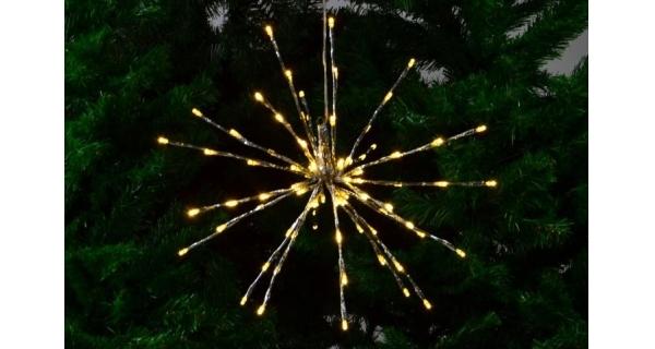 Svítící prskavka 80 LED - teplá bílá