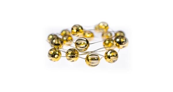 Svítící struna 20 LED - zlaté kuličky