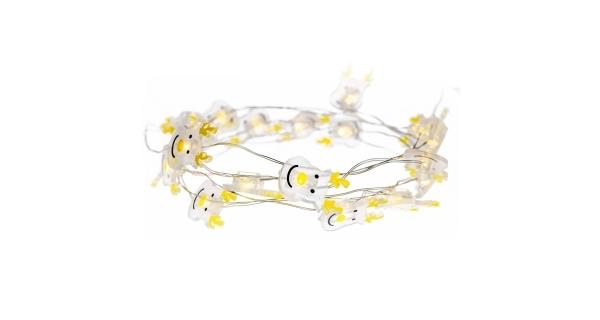 Svítící struna sob 20 LED - teplá bílá