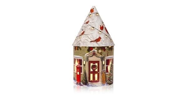 Svítící vánoční domeček 5 LED