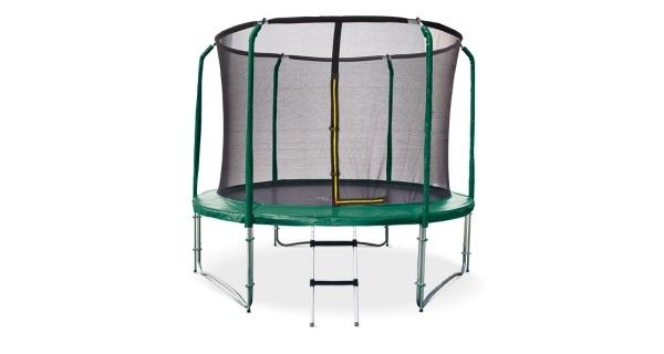 Trampolína Marimex 305 cm + vnitřní ochranná síť + schůdky ZDARMA (zelená)