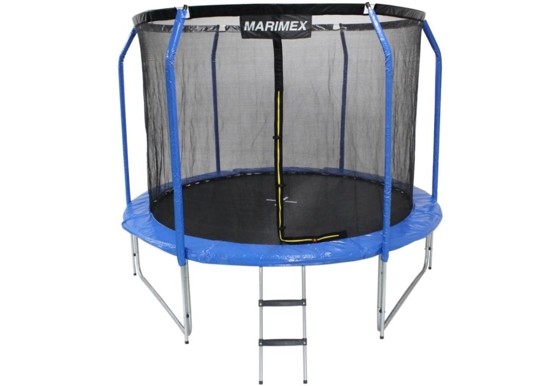Marimex Trampolína Marimex Plus 244 cm + vnitřní ochranná síť + schůdky ZDARMA - 19000064