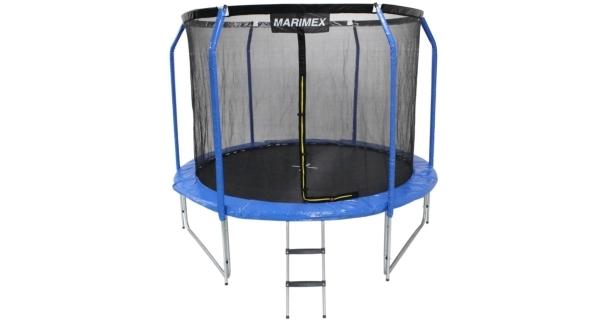 Trampolína Marimex Plus 305 cm + vnitřní ochranná síť + schůdky ZDARMA