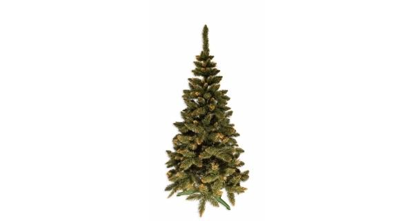 Umělý stromeček - Jedle De Lux - zlatá - 220 cm
