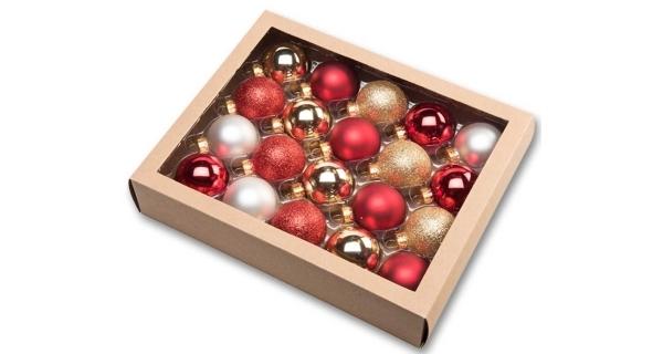 Vánoční koule 4,5 cm - tradiční set