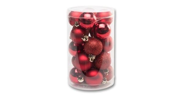 Vánoční koule 4 cm - červená