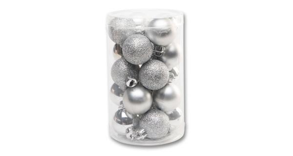 Vánoční koule 4 cm - stříbrná