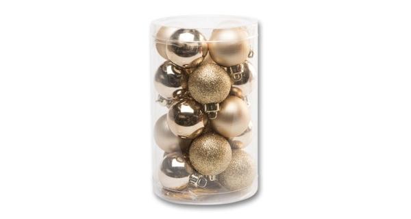 Vánoční koule 4 cm - zlatá