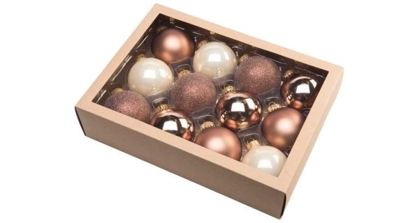 Vánoční koule 6,5 cm - severský set