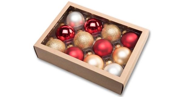 Vánoční koule 6,5 cm - tradiční set