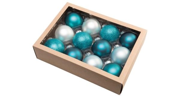 Vánoční koule 6,5 cm - zimní set