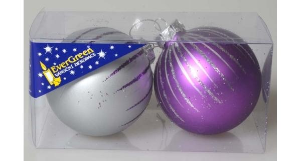 Vánoční koule 8 cm, sada 2