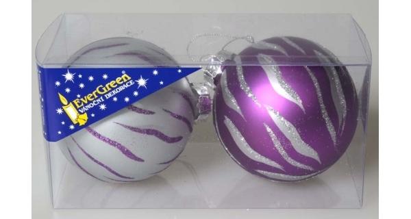 Vánoční koule 8 cm, sada 6