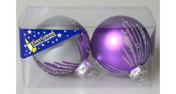 Vánoční koule 8 cm, sada 7