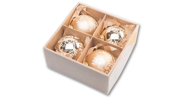 Vánoční koule 8 cm - zlatý set