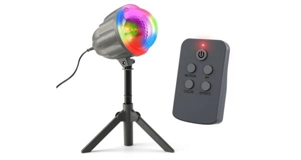 Vánoční laserový projektor - 4 barvy, 122 efektů, 132 m2