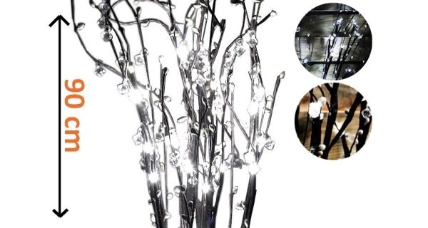 Větvičky LED s kamínky
